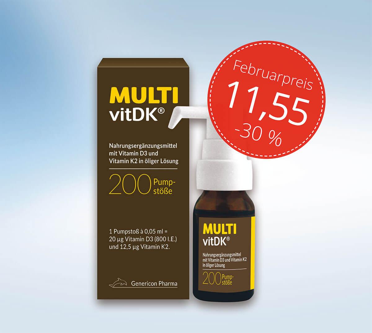 MultivitDK 200 Pumpstoesse vitamin d3 k2