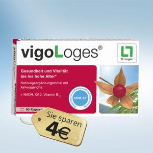 VigoLoges 60 Kapseln mit Ashwagandha-Extrakt KSM-66®